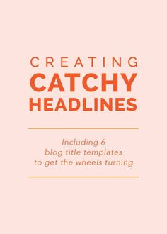 Creating Catchy Head