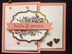 "Do you have a wedding in your future?  This card says it all.  First that you really care and took some extra time to make that perfect card.  But, it also holds a surprise - a gift card which has become a perfect gift for so many. Check out the details about how to make this card on my blog and make sure you take the entire Stampers Dozen blog hop for awesome ""I Do"" inspiration.  http://stampinbj.typepad.com/weblog/2014/05/stampers-dozen-blog-hop-i-do-i-do.html"