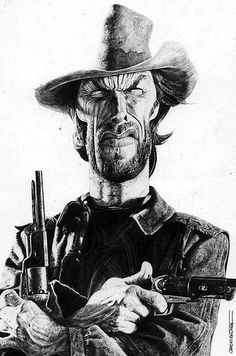Caricature Collection: Clint Eastwood by Charles Da costa
