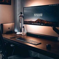 Home Studio Setup, Home Office Setup, Home Office Design, House Design, Office Ideas, Computer Desk Setup, Gaming Room Setup, Pc Setup, Gaming Desk