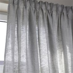 'Lincoln' Pure Linen Curtain with Pinch Pleats, Homeware - La Redoute Pleated Curtains, Linen Curtains, Curtains With Blinds, Drapery, Valance Ideas, Curtain Ideas, Window Dressings, Windows, Textiles