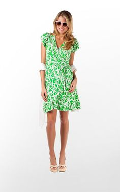 Adriel Dress in Green Bean Light My Fire $168 (w/o 5/12/12) #lillypulitzer #fashion #style