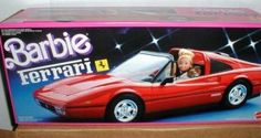 Barbie's kick-ass ride. My Barbie also owned the silver remote control Corvette, which was constantly in the shop because baby sis Skipper kept wrecking it.