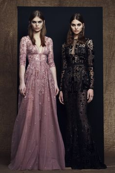 Zuhair Murad Pre-Fall 2018: I like the pink dress with the floral embroidery! Very feminine!