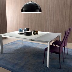 Elegance Table This smart table is very extendable and can be perfect for any family dinner and party. Its elegant and white design makes it a very delicate and beautiful centrepiece to keep in your house. Dining Furniture, Modern Furniture, Smart Table, Modern Dining Table, Dining Tables, Furniture Manufacturers, Armchair, Stool, Minimalist