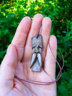 Eco-friendly natural wood carved necklace spirit earth organic tree jewelry
