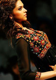 Deepika in Black Thread Embroidered Salwar - MinMit Clothing