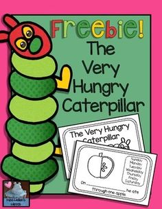 "If you need a sweet, easy prep emergent reader to reinforce the story ""The Very Hungry Caterpillar""...this is the FREEBIE for you!  If you download, thank you greatly for rating me! :)Enjoy helping your beginning readers highlight common sight words, look to the fun pictures cues to decode print, and use the Word Bank on each page to fill in the correct day of the week."