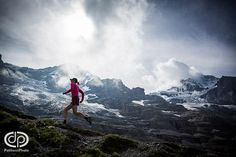 Trail running in the Swiss Alps.