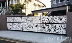 Madagascar multi panel vehicle gate in 4mm composite panel