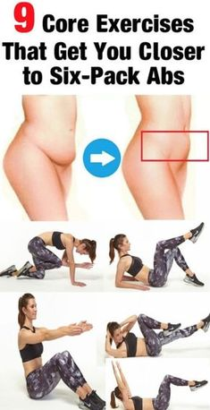 9 Core Exercises That Get You Closer to Six-Pack Abs - Healthy Tips World Everybody wants a six-packwhich is great. But FYI there are actually four key muscle groups you need to tone to get a taut tummy. For the best results both aesthetically and fun Fitness Workouts, Fitness Motivation, Strength Training Workouts, Sport Fitness, Body Fitness, Fitness Diet, Training Exercises, Health Fitness, Exercise Motivation