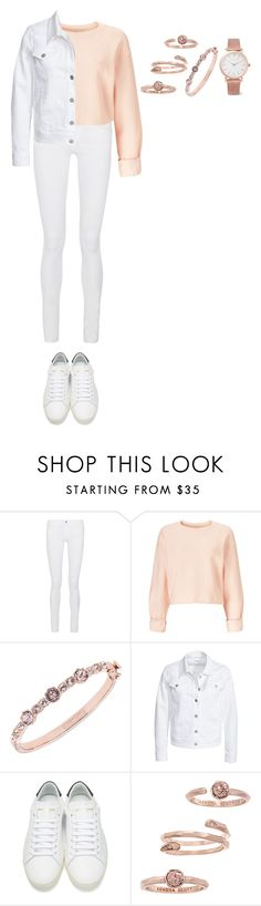 """Untitled #263"" by dutchfashionlover ❤ liked on Polyvore featuring Frame Denim, Miss Selfridge, Givenchy, Filippa K, Yves Saint Laurent, Kendra Scott, Larsson & Jennings, white and rosegold"