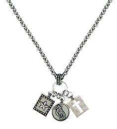 Montana Silversmiths Hardwork, Faith & Dreams Charm Necklace - Sheplers