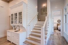Staircase (and shiplap walls...love)