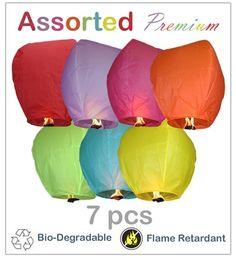 Sky Lanterns - Assorted Premium 7 Pack