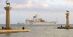 Στο Λιμάνι της Ρόδου το «USNS Bruce C. Heezen»! (T-AGS-64)!