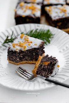 Chocolate Cheesecake Brownies, Cake Recipes, Dessert Recipes, Poppy Seed Cake, Muffins, Cupcakes, Polish Recipes, Food Cakes, Confectionery