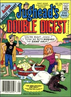 Jughead's Double Digest Magazine 1 A, Oct 1989 Comic Book by Archie Archie Comic Books, Old Comic Books, Comic Book Covers, Online Comic Books, Comic Books For Sale, Old Comics, Vintage Comics, Archie Betty And Veronica, Double Digest