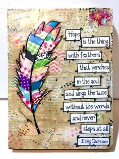 Mixed Media Art Birds Texture Ideas For 2019 Feather Signs, Feather Wall Decor, Feather Art, Art Journal Pages, Art Journals, Junk Journal, Altered Books, Altered Art, Scrapbooking Technique