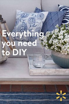 Spring is around the corner and so is everything you need to DIY your patio. - Spring is around the corner and so is everything you need to DIY your patio. Home Design Diy, House Design, Diy Home Crafts, Diy Home Decor, Decoration Bedroom, Coastal Bedrooms, Diy Home Improvement, Minimalist Decor, Patio