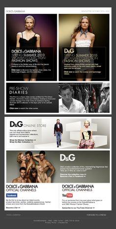 Dolce & Gabbana email newsletter: dark, luxurious, boxy