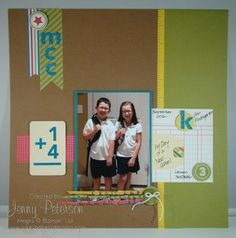 For the Record Simply Scrappin' Kit, Stampin Up demonstrator, Jenny Peterson