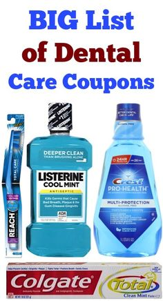 BIG List of Dental Care Coupons: $2.00 off 1 Listerine, $1.50 off 2 Reach Toothbrush, $0.75 off 1 Colgate + more!