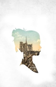 This is a cool photo montage where they took a silhouette of a woman and combined it with a photo of a city to create an amazing final product. The cityscape works great in the middle of the silhouette and the final product is very appealing. Illustration Arte, Illustrations, Silhouette Art, London Silhouette, Landscape Silhouette, Silhouette Portrait, Design Graphique, Grafik Design, Photomontage