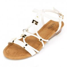 What works well with skinny jeans, skirts, and summer dresses? The Iris White Sandal https://www.rialtoshoes.com/rialto-shoes-iris-white-sandal.html