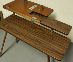 Vintage Sewing Table Sewing Machine Table Pfaff By OldCottonwood