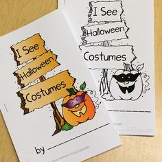 Halloween emergent reader for kids - free printable easy reader that helps teach early literacy skills