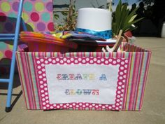 Create a clown box for a circus birthday.  Could do this for a super hero or princess party too.