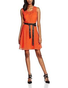 12, Orange (Mandarine), Morgan Women's 161-Rlove.P Dress NEW