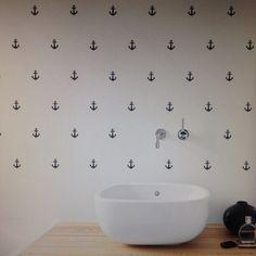Bathroom #anchor #wallsticker #homedecor #bath #decoration #wallart