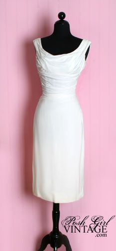 60's white dress.