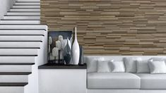 Finium Hecolo San Francisco mixed wood species wall panels #Finium #timberwalls #woodwallpanels #accentwall #featurewall #livingroomideas #mediawall #moderndesign #bedroomdesignideas #diningroomideas #walldesign #interiordesign