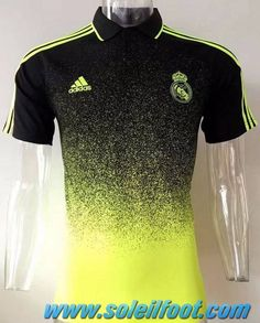12e90928ef Polo Thailande Real Madrid Jaune Noir 2017-18 Replica Soccer Shirts