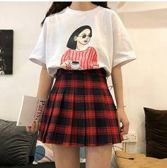 Korean Fashion – How to Dress up Korean Style – Designer Fashion Tips Grunge Outfits, Grunge Fashion, Cute Fashion, Fashion Outfits, Pretty Outfits, Cool Outfits, Casual Outfits, Korea Fashion, Asian Fashion