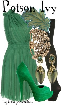 """""""poison ivy"""" by marvel-ous ❤ liked on Polyvore"""