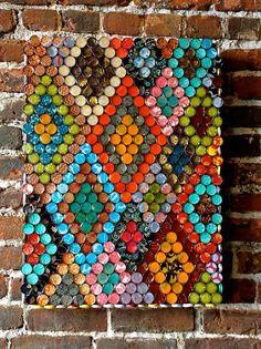 Geometric Bottle Cap Wall Art  - CountryLiving.com
