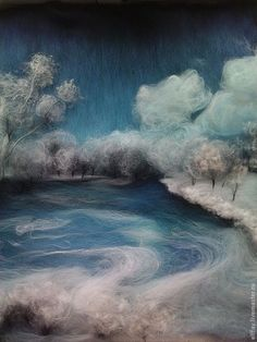 Image result for felted winter scene