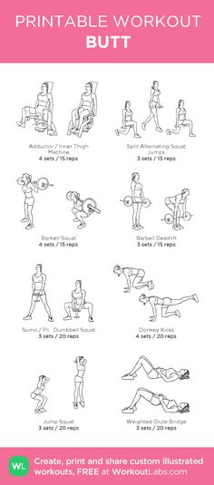 Workout plans to action with pin regimen reference 6316763765 now. Bum Workout, Workout Schedule, Gym Workout Plans, Hip Thrust Workout, Workout Ideas, Reps And Sets, Printable Workouts, Gym Routine, Planet Fitness Workout
