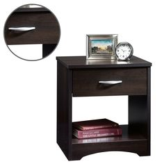 Single Drawer Nightstand Home Bedroom Furniture Durable Open Shelf End Table #SingleDrawerNightstand #Contemporary