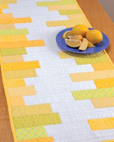 quilted yellow table runner