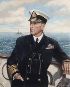 Portrait by Sylvia Ford - Admiral of the Fleet Louis Francis Albert Victor Nicholas Mountbatten, 1st Earl Mountbatten of Burma (1900 – 1979), known informally as Lord Mountbatten, was a British statesman & naval officer, an uncle of Prince Philip, Duke of Edinburgh, & second cousin once removed to Elizabeth II. During WWI, he was Supreme Allied Commander South East Asia Command (1943–46). He was the last Viceroy of India (1947) & the first Governor-General of the independent Dominion of…