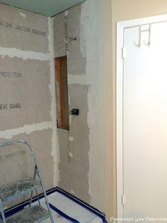 DIY Master Bathroom Shower Prep |