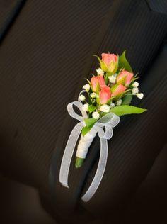 boutonniere mini roses - Google Search