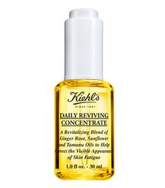 Daily Reviving Concentrate with Essential Oils for Face by Kiehl's. Facial oil with ginger essential oil, sunflower oil, and tamanu oil for radiant-looking skin all day.