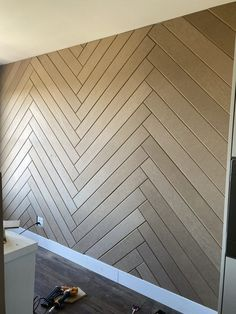 home accent walls Herringbone Accent Wall - DIY - Bold Boundless Blonde Black Accent Walls, Accent Walls In Living Room, Accent Wall Bedroom, Black Walls, Ship Lap Accent Wall, Wood Accent Walls, Wooden Wall Bedroom, Accent Wall Panels, Accent Wall In Kitchen