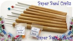 Image of 8 Paper Bead rollers